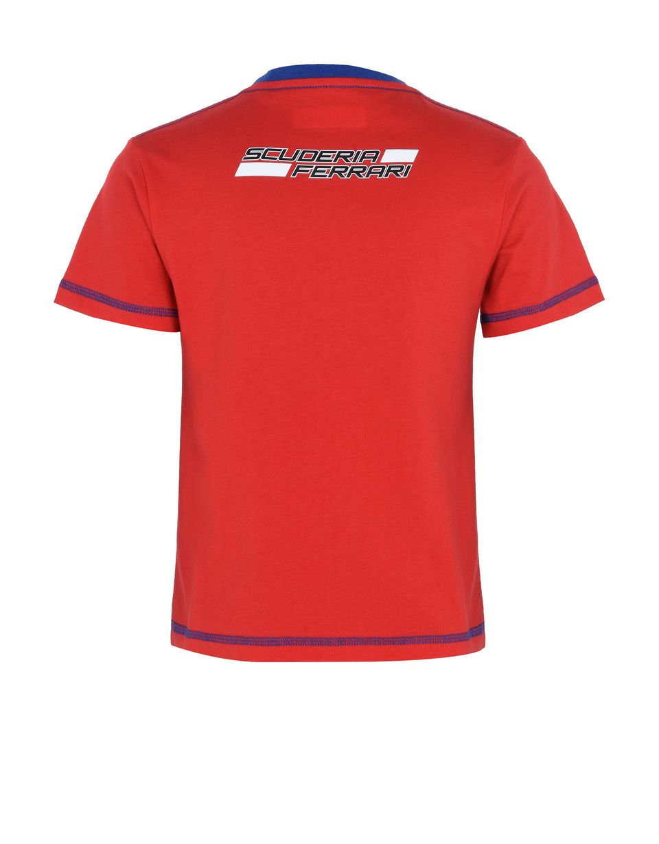Scuderia Ferrari Online Store - T-shirt with Shield for teens - Short Sleeve T-Shirts