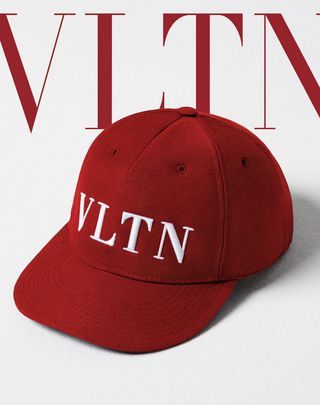 VLTN VALENTINO GARAVANI UOMO VLTN baseball cap  Red Cotton 46563927GX