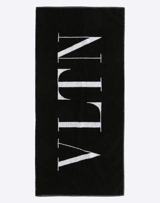 VALENTINO UOMO VLTN gym towel  Black Cotton 46563928PI