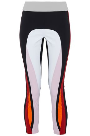 NO KA 'OI Cropped color-block stretch leggings