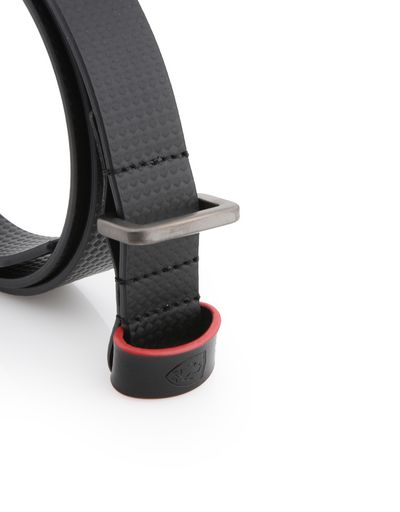Scuderia Ferrari Online Store - Women's leather belt with carbon fiber effect - Regular Belts