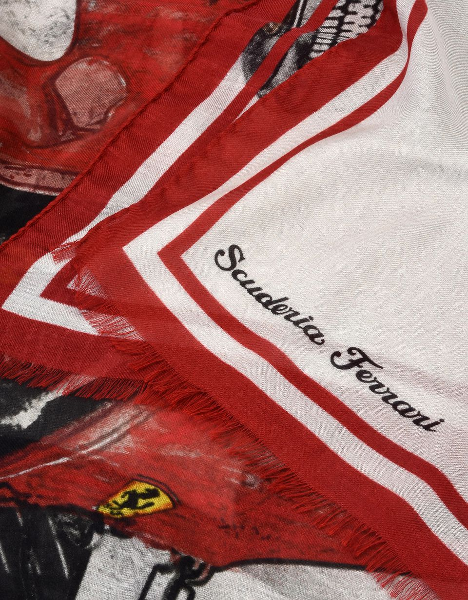 Scuderia Ferrari Online Store - Scarf with 312 F1-67 print - Scarves