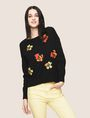ARMANI EXCHANGE ABSTRACT FLORAL CREWNECK SWEATER Crew Neck Woman a