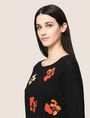ARMANI EXCHANGE ABSTRACT FLORAL CREWNECK SWEATER Crew Neck Woman b