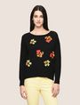 ARMANI EXCHANGE ABSTRACT FLORAL CREWNECK SWEATER Crew Neck Woman f