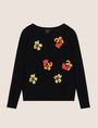 ARMANI EXCHANGE ABSTRACT FLORAL CREWNECK SWEATER Crew Neck Woman r