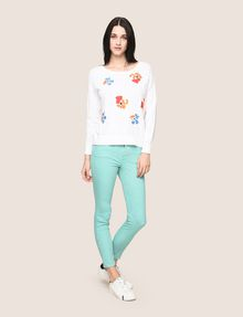ARMANI EXCHANGE ABSTRACT FLORAL CREWNECK SWEATER Crew Neck Woman d
