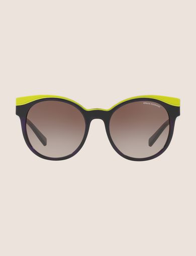 LIME DIPPED WINGED SUNGLASSES