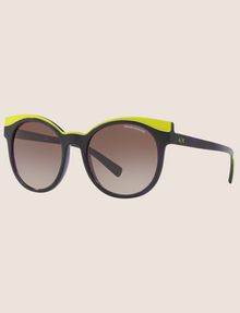 ARMANI EXCHANGE LIME DIPPED WINGED SUNGLASSES Sunglass Woman e