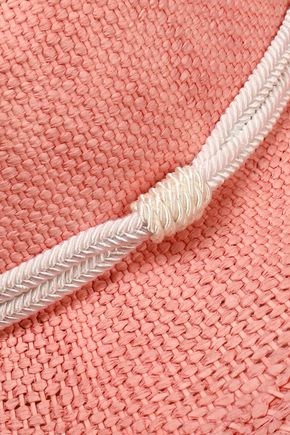 MAJE Braid-embellished woven straw sunhat