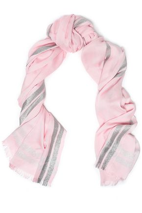 CLAUDIE PIERLOT Metallic knitted scarf