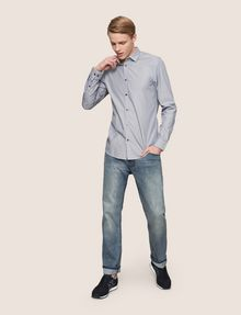ARMANI EXCHANGE SLIM-FIT YARN DYE SHIRT Long sleeve shirt Man d