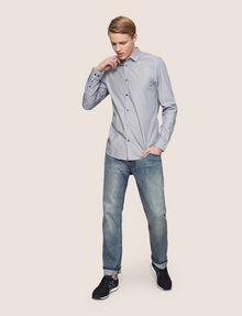 ARMANI EXCHANGE SLIM-FIT YARN DYE SHIRT Long sleeve shirt [*** pickupInStoreShippingNotGuaranteed_info ***] d