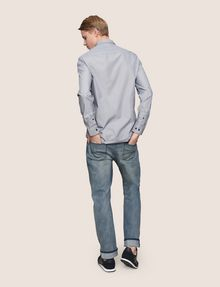 ARMANI EXCHANGE SLIM-FIT YARN DYE SHIRT Long sleeve shirt Man e