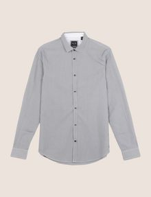 ARMANI EXCHANGE SLIM-FIT YARN DYE SHIRT Long sleeve shirt Man r