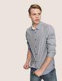 ARMANI EXCHANGE SLIM-FIT YARN DYE SHIRT Long sleeve shirt [*** pickupInStoreShippingNotGuaranteed_info ***] a
