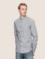 ARMANI EXCHANGE SLIM-FIT YARN DYE SHIRT Long sleeve shirt Man f