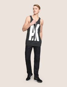 ARMANI EXCHANGE NEGATIVE SPACE RELAXED TANK Logo Tanks Man d