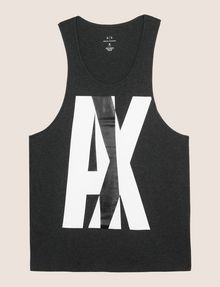 ARMANI EXCHANGE NEGATIVE SPACE RELAXED TANK Logo Tanks Man r
