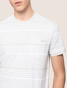 ARMANI EXCHANGE MULTI-STRIPE POCKET TEE S/L Knit Top Man b