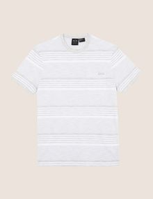 ARMANI EXCHANGE MULTI-STRIPE POCKET TEE S/L Knit Top Man r