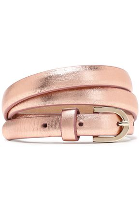 CLAUDIE PIERLOT Metallic leather belt