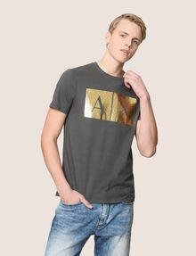 ARMANI EXCHANGE TESSELLATED FOIL LOGO TEE Logo T-shirt Man f