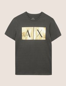 ARMANI EXCHANGE TESSELLATED FOIL LOGO TEE Logo T-shirt Man r