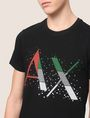 ARMANI EXCHANGE PIXELATED PATCHWORK LOGO TEE Logo T-shirt Man b