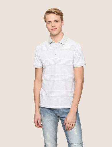 ARMANI EXCHANGE MULTI-STRIPE POLO SHIRT Man front