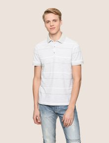 ARMANI EXCHANGE MULTI-STRIPE POLO SHIRT SHORT SLEEVES POLO [*** pickupInStoreShippingNotGuaranteed_info ***] f