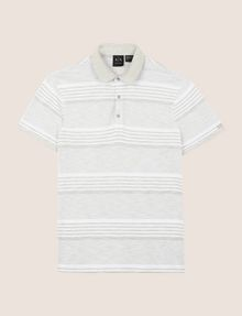 ARMANI EXCHANGE MULTI-STRIPE POLO SHIRT SHORT SLEEVES POLO [*** pickupInStoreShippingNotGuaranteed_info ***] r