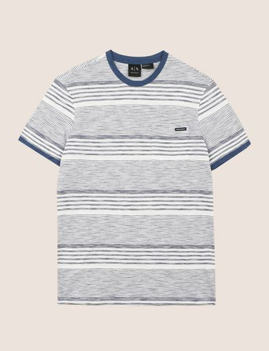 MULTI-STRIPE POCKET TEE