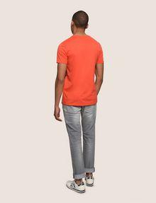 ARMANI EXCHANGE PLACED PRINT TICKER V-NECK Logo T-shirt Man e