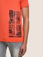 ARMANI EXCHANGE PLACED PRINT TICKER V-NECK Logo T-shirt Man b