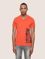 ARMANI EXCHANGE PLACED PRINT TICKER V-NECK Logo T-shirt Man f