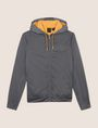ARMANI EXCHANGE TONAL LOGO CONTRAST LINING HOODIE Fleece Jacket Man r