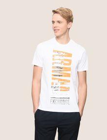 ARMANI EXCHANGE VERTICAL CITY CREWNECK Logo T-shirt Man f