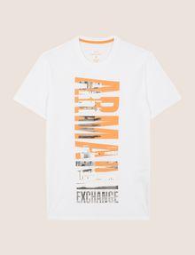 ARMANI EXCHANGE VERTICAL CITY CREWNECK Logo T-shirt Man r