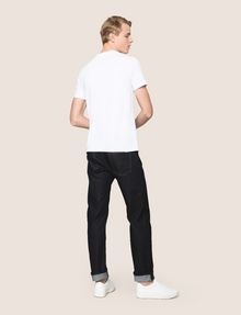ARMANI EXCHANGE TESSELLATED FOIL LOGO TEE Logo T-shirt Man e