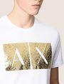 ARMANI EXCHANGE TESSELLATED FOIL LOGO TEE Logo T-shirt Man b