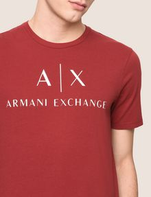 ARMANI EXCHANGE CLASSIC LOGO CREWNECK TEE Logo T-shirt Man b