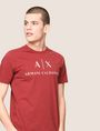 ARMANI EXCHANGE CLASSIC LOGO CREWNECK TEE Logo T-shirt Man a