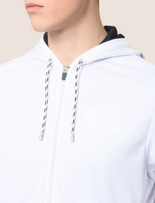 ARMANI EXCHANGE TONAL LOGO CONTRAST LINING HOODIE Fleece Jacket Man b
