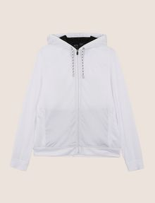 ARMANI EXCHANGE TONAL LOGO CONTRAST LINING HOODIE Fleece Jacket [*** pickupInStoreShippingNotGuaranteed_info ***] r
