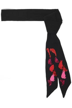 MAJE Amon bead-embellished crepe scarf