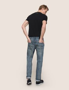 ARMANI EXCHANGE CLASSIC RELAXED STRAIGHT MID-INDIGO JEANS STRAIGHT FIT JEANS Man e