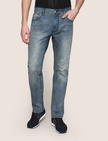ARMANI EXCHANGE CLASSIC RELAXED STRAIGHT MID-INDIGO JEANS STRAIGHT FIT JEANS Man f