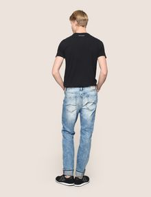 ARMANI EXCHANGE TAPERED FIT ZIP DETAIL ACID JEANS Relaxed Fit Denim Man e