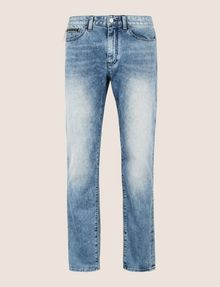 ARMANI EXCHANGE TAPERED FIT ZIP DETAIL ACID JEANS Relaxed Fit Denim Man r